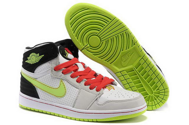 Air Jordan 1 Retro Shoes Light green/Light gray